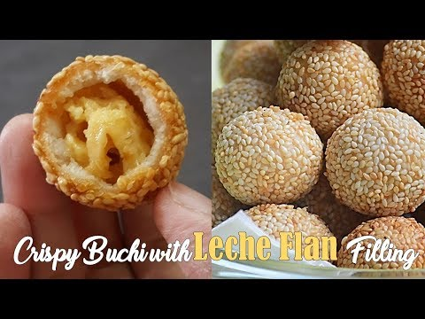 Crispy BUCHI with Leche Flan Filling (Sesame Balls) | It's More Fun in the Kitchen