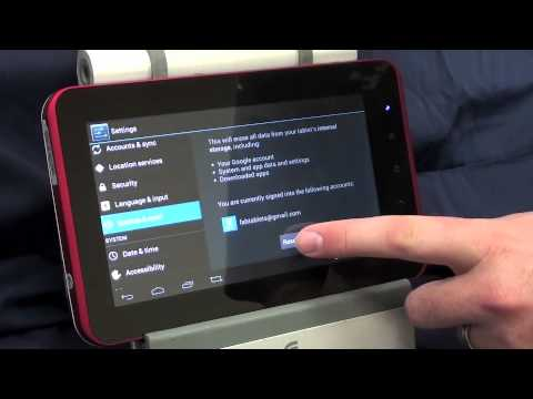 How to do a Factory Data Reset on and Android 4.0 Tablet C91 C71 T01 Superpad