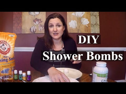 DIY Shower Bombs with Young Living Essential Oils