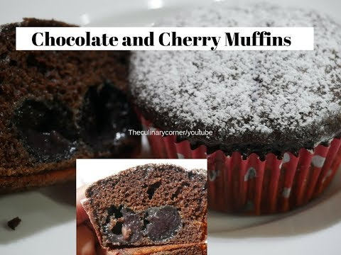 Chocolate Muffins with  Cherry in the middle