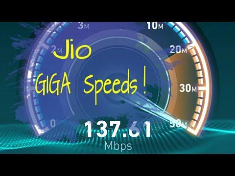 Quick speed test on Jio : Jionet speeds