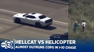 Dodge Hellcat Outruns Chopper in Houston Police Chase! Driver Almost Makes it