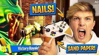 Playing Fortnite With MOST DANGEROUS CONTROLLER OF ALL TIME!!! (Extreme Fortnite Challenge)