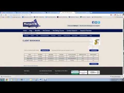 Pet Sitters Software and Dog Walkers Software by NarpsUK
