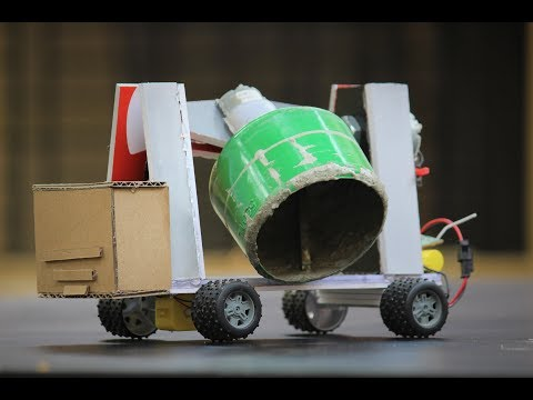 How To Make a cement Mixer - Remote control cement Mixer