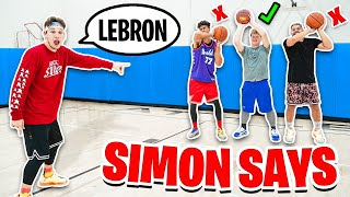 COPY LEBRON JAMES OR LOSE IN SIMON SAYS BASKETBALL