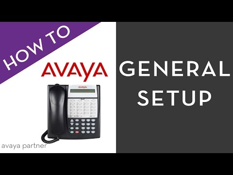 Avaya Partner Telephone  Programming, General set-up