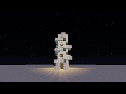 Minecraft Redstone Creation: Spiral Piston Elevator (Working 1.7.4)