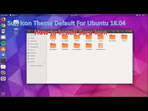 How to install Suru Icon Theme on Ubuntu 18.04