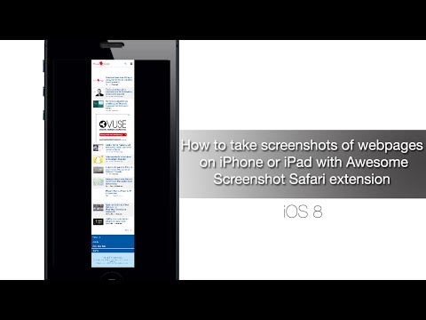 How to take screenshots of webpages on iPhone or iPad with Awesome Screenshot Safari extension