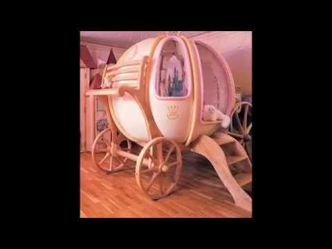 Princess carriage beds for girls bedroom by optea-referencement.com