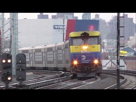 LIRR HD 60fps: EMD DM30AC Rush Hour Trains [Diesel & Electric Mode] @ Woodside (1/12/17)