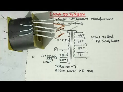 1KVA 90v To 280v Automatic Stabilizer Transformer Coil Winding. YT-58