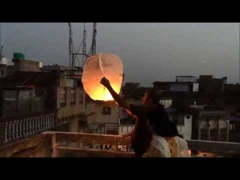How to fly Sky Lantern | Mini Hot Air Balloons | Lantern Kite flying | Kite flying in India