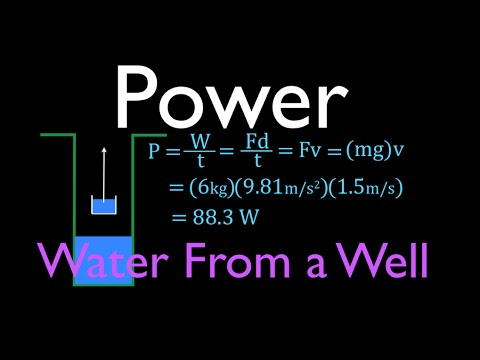 Physics, Power, Lifting a Bucket Out of a Well at Known Velocity