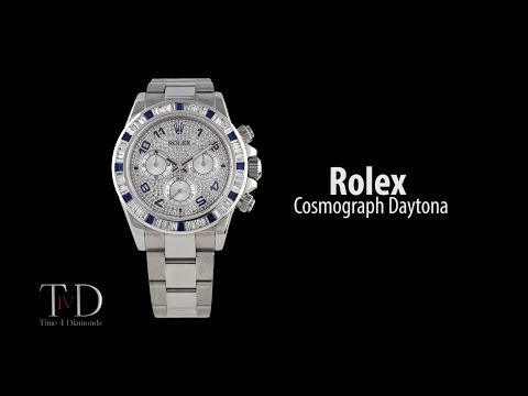 Rolex Cosmograph Daytona 40mm in steel with a custom diamond set bezel (T4D) watch review