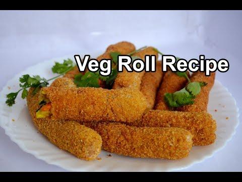 Veg Roll Recipe | வெஜ் ரோல் | Spring Roll Recipe