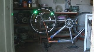 Luces Caseras En Rueda De Bicicleta--rotativo Luzes Da Bicicleta De Roda