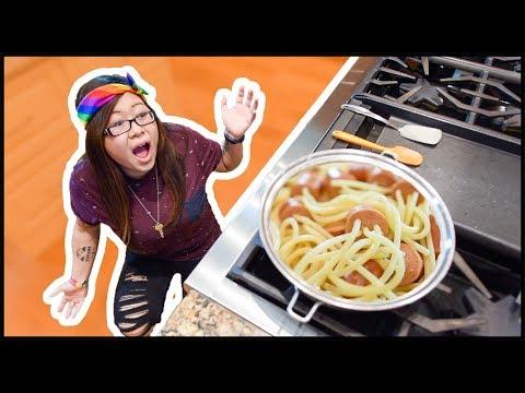 Spaghetti Hot Dog Pinterest DIY!