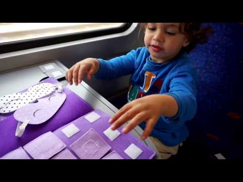 Travel Toys for Toddlers- Brushing Teeth Suitcase and Tactile Memory Game- Ruti's Creations