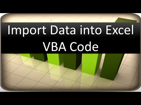 Import Data into Excel - VBA Code