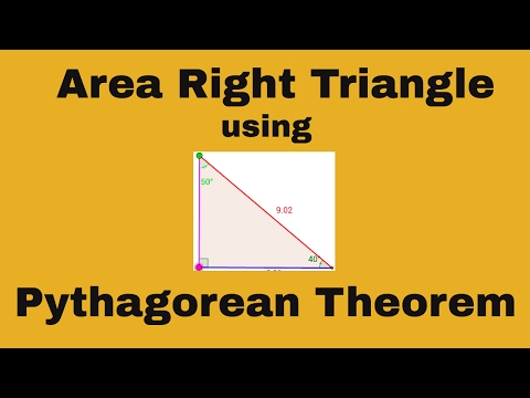 How to find the area of a right triangle using the Pythagorean Theorem