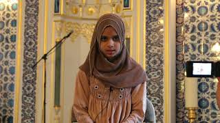 Maryam Masud is reciting Surah Al-Fil, Al-Adiyat and Al-Ala