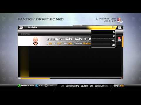 The OFFLINE fantasy draft in connected careers in Madden 25