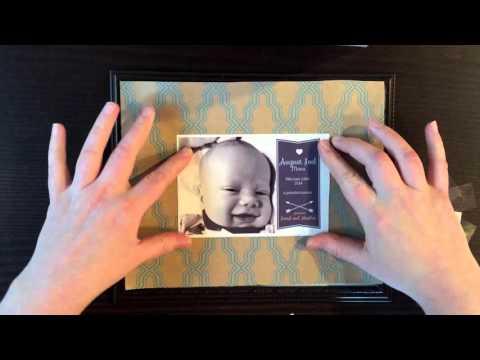 DIY Framed Baby Announcement