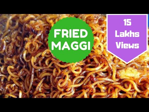 Fried Maggi Recipe   Fried Ramen   Street Style   Telugu and English Subs