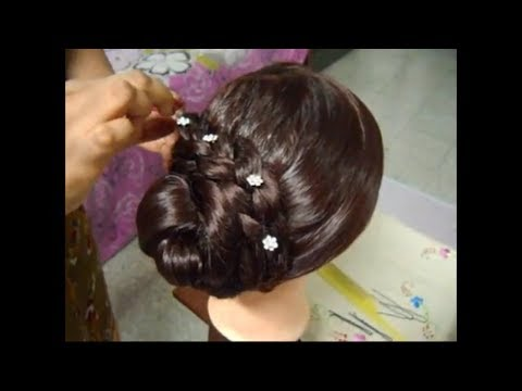 A very Simple and Easy Bun Hairstyle for  Long and Medium Hair.