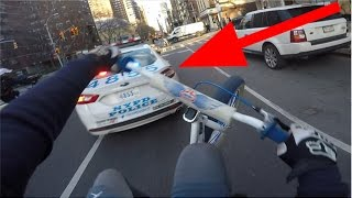 SUICIDE SWERVING NYPD POLICE CARS