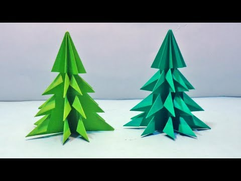 How to Make 3D Paper Christmas Tree - DIY Paper Xmas Tree Tutorial for Decorations