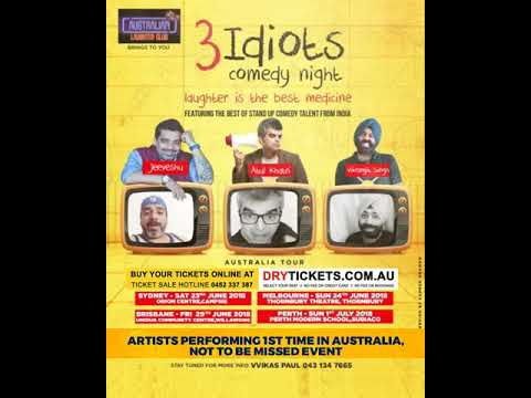 The 3 Idiots Comedy Night In Sydney, Melbourne, Brisbane & Perth