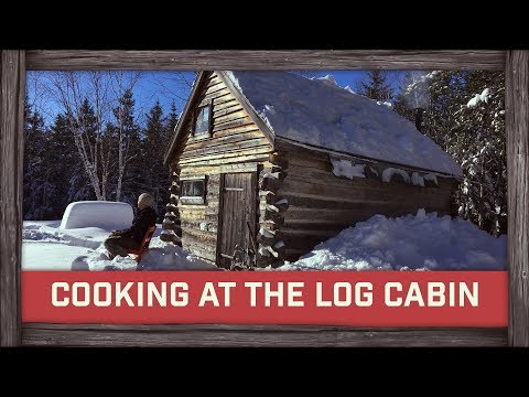 Cooking On Wood Stove at the Log Cabin!