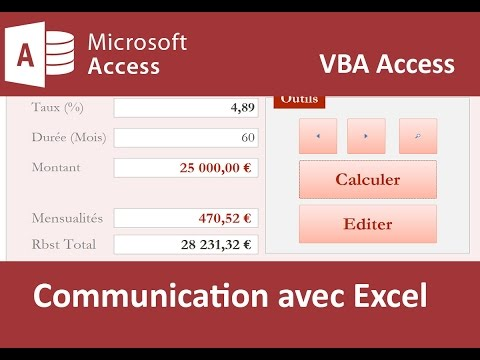 Communication entre Access et Excel par le code VBA