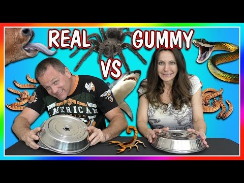 HORRIBLE REAL FOOD VS GUMMY FOOD CHALLENGE   PARENTS EDITION   We Are The Davises