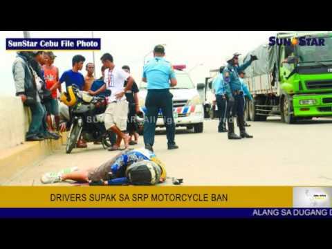 Drivers supak sa motorcycle ban sa SRP
