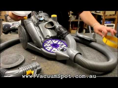 Dyson DC08 Bagless Vacuum Cleaner Filter Change, how to check & change your filters