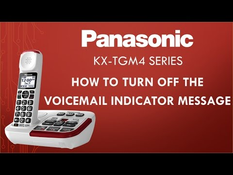 Panasonic KX-TGM4 Telephone series - How to turn off the Voicemail message indicator