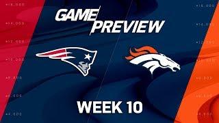 New England Patriots vs. Denver Broncos | NFL Week 10 Game Preview | NFL Playbook