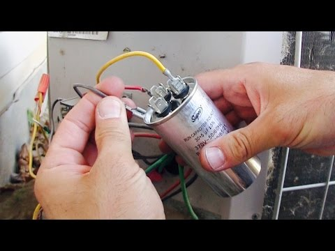 AC Fan Compressor Not Working - How to Repair / Replace HVAC Run Start Capacitor - Air Conditioner