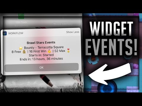 How to Get Brawl Stars Event Widgets on Your iPhone Homescreen - Brawl Stars Workflow Tutorial