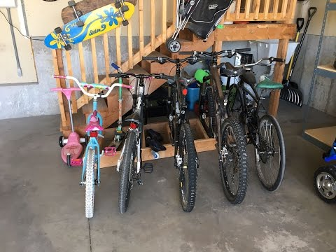 Easy To Build Garage Bike Rack, Simple & Clean Design