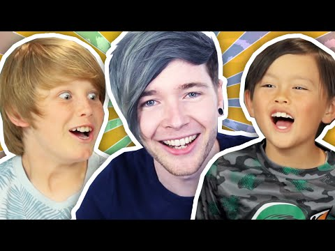 DANTDM REACTS TO KIDS REACT TO DANTDM!!