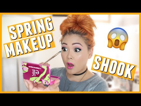 Colorful Spring Makeup Using ALL Drugstore Products (NEW Elf Cosmetics & Nyx Cosmetics)