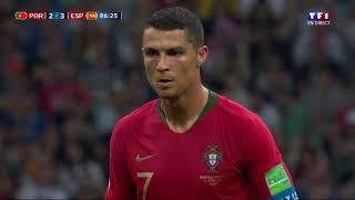 Portugal 3-3 Espagne : Le Coup Franc Magistral de Ronaldo !