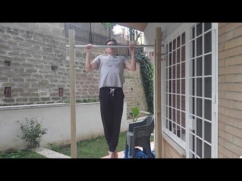 How to make a freestanding pull up bar / diy Sbarra per Trazioni