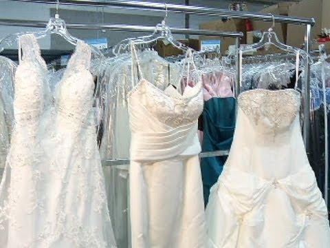 Find designer dresses for less at Goodwill Bridal Showcase