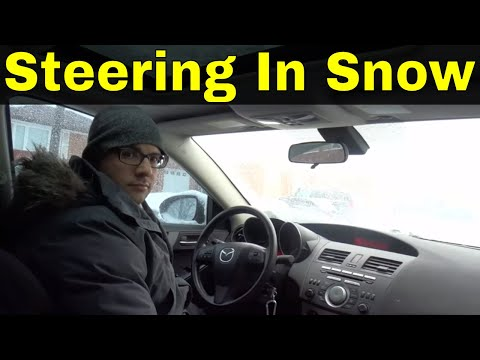 Steering A Car In The Snow-Beginner Driving Lesson